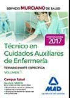 Inmaswan.es Tecnico En Cuidados Auxiliares De Enfermeria Del Servicio Murciano De Salud. Temario Partes Especifica (Vol. 1) Image