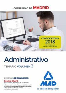 Vinisenzatrucco.it Administrativo De La Comunidad De Madrid. Temario Volumen 3 Image