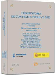 observatorio de contratos publicos 2011-jose maria gimeno feliu-9788447040339