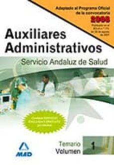 Inmaswan.es Auxiliares Administrativos Del Servicio Andaluz De Salud. Sas. Te Mario (Vol. I) Image