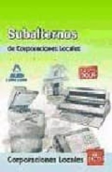 Padella.mx Subalternos De Corporaciones Locales. Test Del Temario General Image
