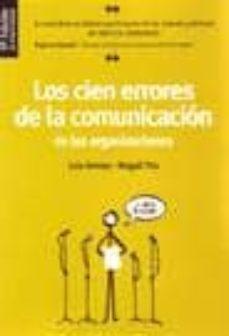 Curiouscongress.es Los Cien Errores De La Comunicacion De Las Organizaciones (3ª Ed) Image