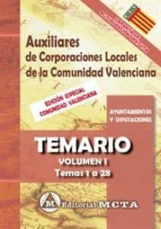 Permacultivo.es Auxiliares De Corporaciones Locales De La Comunidad Valenciana (Vol. I): Temario: Temas 1 A 28 Image