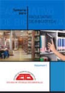 Carreracentenariometro.es Temario Para Facultativo De Biblioteca (Vol. 1): Biblioteconomia, Bibliografia Y Documentacion (7ª Ed.) Image