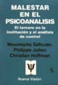 Valentifaineros20015.es Malestar En El Psicoanalisis: El Tercero En La Institucion Y El A Nalisis De Control Image