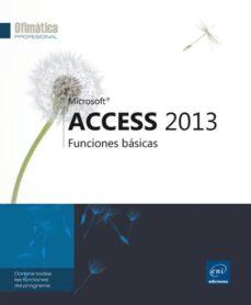 access 2013: funciones basicas-9782746087149