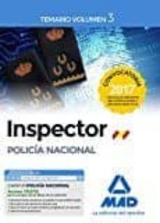 Bressoamisuradi.it Inspector De Policía Nacional. Temario Volumen 3 Image