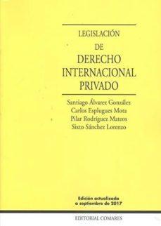 legislación de derecho internacional privado-santiago alvarez gonzalez-9788490455449