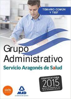 Alienazioneparentale.it Grupo Administrativo Del Servicio Aragones De Salud.(salud-aragon )Temario Y Test Comun Image