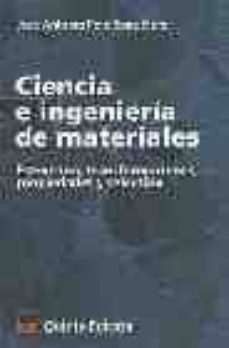 ciencia e ingenieria de materiales-jose antonio pero-sanz elorz-9788496437449