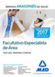 facultativo especialista de área del servicio aragonés de salud. test del temario común-9788414207659