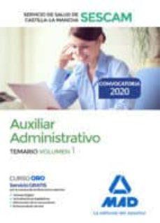 Permacultivo.es Auxiliar Administrativo Del Servicio De Salud De Castilla-la Mancha (Sescam). Temario Volumen 1 Image