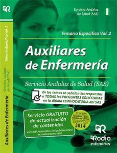 Srazceskychbohemu.cz Auxiliares De Enfermeria Del Sas. Temario Especifico. Volumen 2 Image