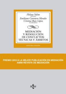 mediacion y resolucion de conflictos: tecnicas y ambitos (2ª ed)-9788430959259