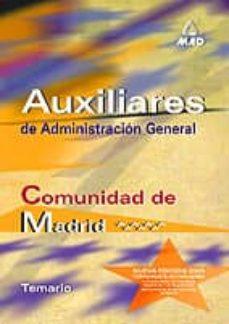 Eldeportedealbacete.es Auxiliares De Administracion General De La Comunidad Autonoma De Madrid: Temario Image