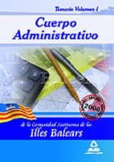 Trailab.it Cuerpo Administrativo De La Comunidad Autónoma De Las Illes Balea Rs. Temario. Vol 1 Image