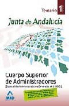 Eldeportedealbacete.es Cuerpo Superior De Administradores (Esp.administracion General) De La Junta De Andalucia. (A1.1100). Temario. Volumen I Image
