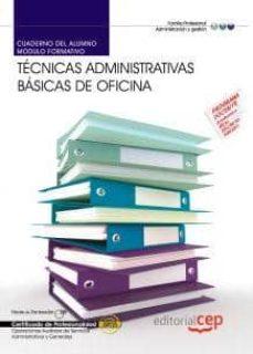 Curiouscongress.es Cuaderno Del Alumno Tecnicas Administrativas Basicas De Oficina. Certificados De Profesionalidad Image