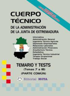 Trailab.it Cuerpo Técnico De La Junta De Extremadura (Temas (7 A 18) Image