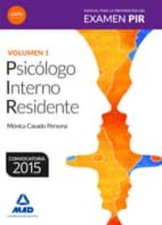 Concursopiedraspreciosas.es Manual Para La Preparacion Del Examen Pir: Volumen 1 Image