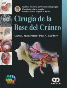 Libros en ingles descargables gratis CIRUGIA DE LA BASE DEL CRANEO