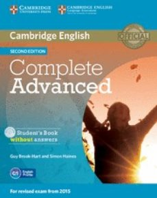 Descarga gratuita bookworm COMPLETE ADVANCED STUDENT S BOOK WITHOUT ANSWERS WITH CD-ROM 2ND EDITION de  in Spanish 9781107631069 RTF