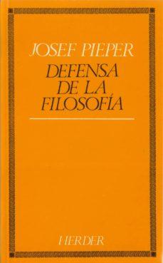 Valentifaineros20015.es Defensa De La Filosofia (6ª Ed.) Image