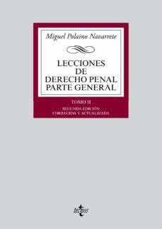 lecciones de derecho penal parte general tomo ii-miguel polaino navarrete-9788430962969