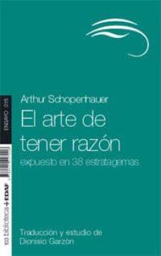 el arte de tener razón (ebook)-arthur schopenhauer-9788441423169