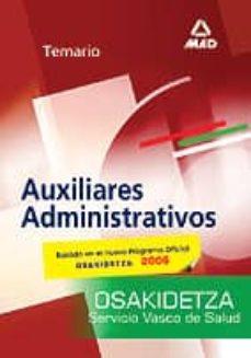 Cronouno.es Auxiliares Administrativos Del Servicio Vasco De Salud-osakidetza : Temario Image