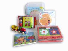 Geekmag.es Caja Para Bebes: Juegos Para Imaginar (Contiene: Mira Y Juega (Li Bro Tela), Caras De Bebes (Libro Caron), Mi Locomotora (Libro + Juguete) Y Pin Y Pon En El Safari (Libro De Baño + Muñeco) Image