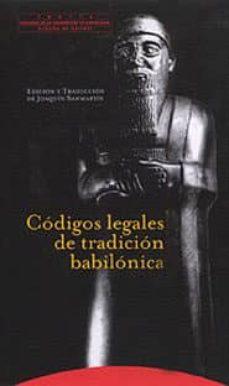 codigos legales de la tradicion babilonica-9788481643169