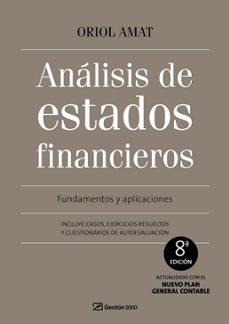 analisis de estados financieros (8ª ed)-oriol amat-9788496612969