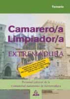 Encuentroelemadrid.es Camarero Limpiador: Personal Laboral De La Comunidad Autonoma De Extremadura: Temario Image