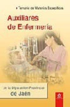 Debatecd.mx Auxiliares De Enfermeria De La Diputacion Provincial De Jaen: Tem Ario De Materias Especificas Image