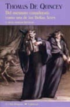 Libro gratis en línea descarga gratuita DEL ASESINATO CONSIDERADO COMO UNA DE LAS BELLAS ARTES de THOMAS DE QUINCEY RTF iBook