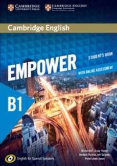 Libros para descargar gratis para kindle. CAMBRIDGE ENGLISH EMPOWER FOR SPANISH SPEAKERS B1 STUDENT S BOOK WITH ONLINE ASSESSMENT AND PRACTICE de