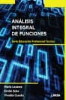 ANALISIS INTEGRAL DE FUNCIONES - JOSE F. ALBARRAN |