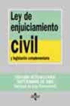 Permacultivo.es Ley De Enjuiciamiento Civil Y Legislacion Complementaria (4ª Ed.) Image