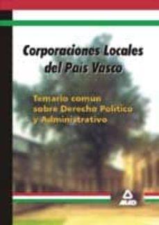 Geekmag.es Corporaciones Locales Del Pais Vasco. Temario Comun Sobre Derecho Politico Y Administrativo Image