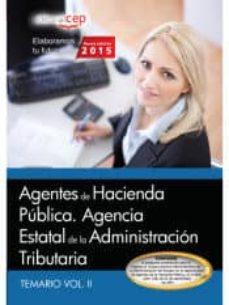 Permacultivo.es Agentes De Hacienda Pública. Agencia Estatal De La Administración Tributaria. Temario Vol. Ii. Image