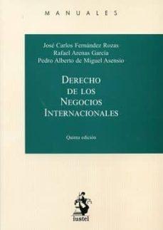 Descargar DERECHO DE LOS NEGOCIOS INTERNACIONALES gratis pdf - leer online