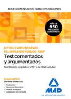 Bressoamisuradi.it Test Comentados Para Oposiciones De La Ley Del Estatuto Basico De L Empleado Público -Ebep- (Real Decreto Legislativo 5/2015, De 30 De Octubre) Image