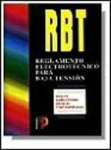 Descargar RBT, REGLAMENTO ELECTROTECNICO PARA BAJA TENSION gratis pdf - leer online