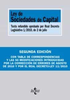 Permacultivo.es Ley De Sociedades De Capital: Texto Refundido Aprobado Por Real D Ecreto Legislativo 1/2010, De 2 De Julio Image