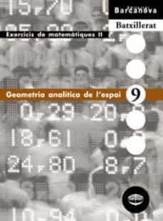 geometria analítica de l espai  (cataluña)-9788448915599