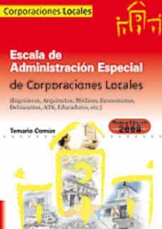 Permacultivo.es Escala De Administracion Especial. Corporaciones Locales. Temario Comun Image