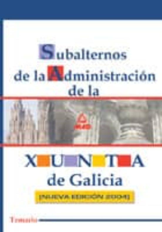 SUBALTERNOS DE LA XUNTA DE GALICIA. TEMARIO