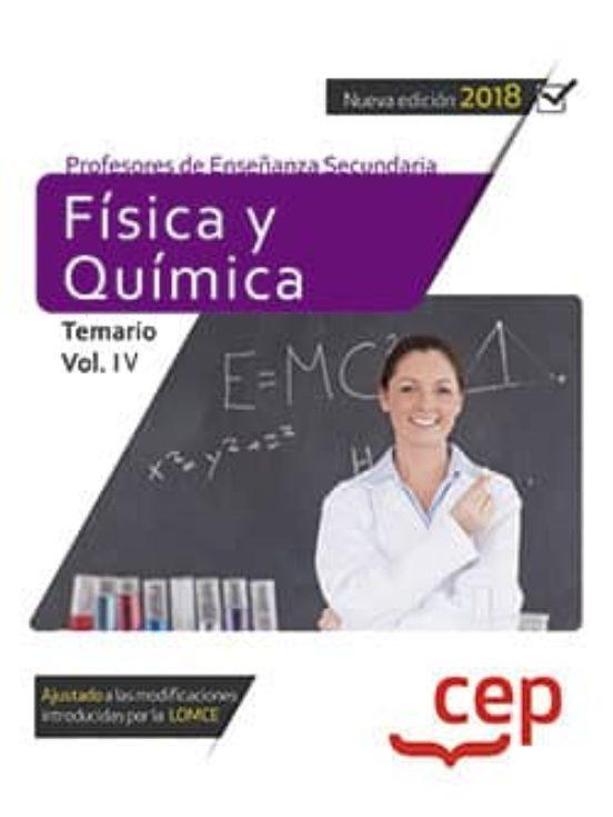 temario oposiciones secundaria fisica y quimica gratis pdf