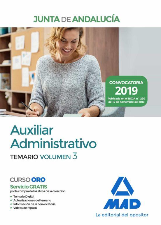 AUXILIAR ADMINISTRATIVO DE LA JUNTA DE ANDALUCÍA TEMARIO VOLUMEN 3